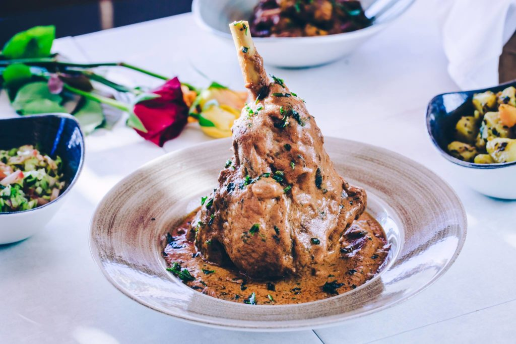 Leg of Lamb with dark rum herbs and spices from Indian Restaurant Glasgow.